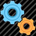 engine, gear, industry, engineering, mechanical, progress, cogwheel icon