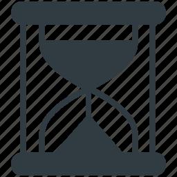 clock, egg timer, hourglass, sand timer, timer icon