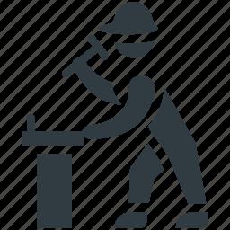 constructor, mechanic, repairer, repairman, worker icon