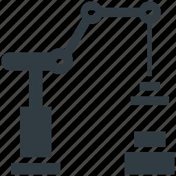 engineering, lifting, mechanical machine, milling machine, robotic machine icon