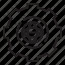 cogwheel, engineering, engineering icon, globe icon