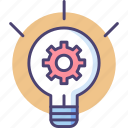 creative, creativity, idea, innovation, lightbulb, mind, mindset icon