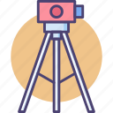 beam, distance, laser, level, projector, surveyor, tripod icon