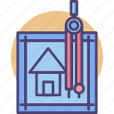 architecture, home, house, interior, layout, plan, renovation icon