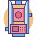 engineering, instrument, survey, surveying, tacheometer, tacheometry icon