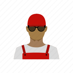 avatar, builder, engineer, loader, profession, race, working icon