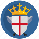 crown, emblem, england, flag, kingdom, round icon