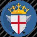 crown, emblem, england, flag, kingdom, round