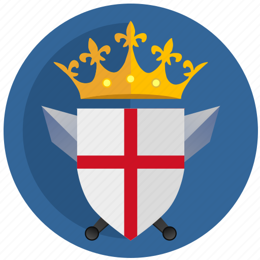 crown, emblem, england, flag, kingdom, round icon
