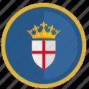 crown, england, flag, kingdom, round
