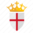 crown, england, kingdom, nation, shield icon