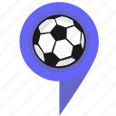 ball, football, game, location, pointer, sport