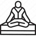 enlightenment, exercise, insight, meditation, pose, thoughts, workout icon