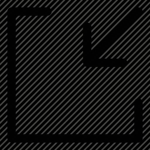 exit fullscreen, fullscreen, minimize, player icon