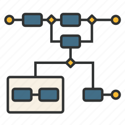 bpmn, business process, chart, diagram, model, process, togaf icon