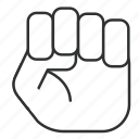 fist, law, officer, principle, rule, togaf, tool icon