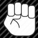 fist, law, principle, rule, togaf, officer, tool icon