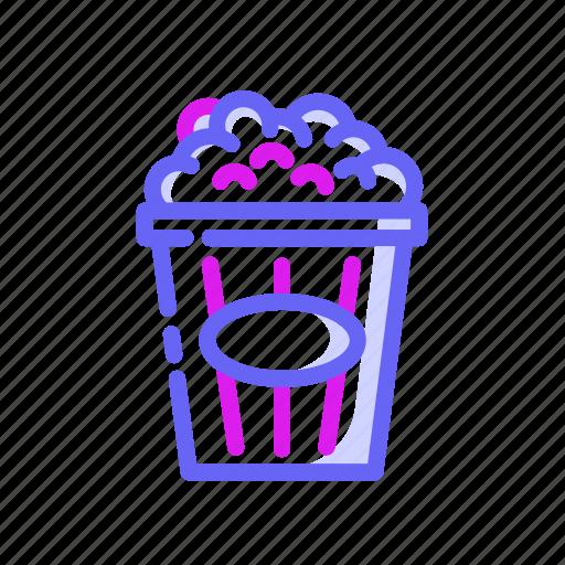 cinema, entertaiment, fast food, food, movie, pop corn icon