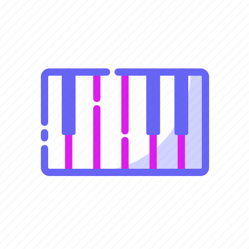 colourfull, electronic, entertaiment, music, note, piano icon