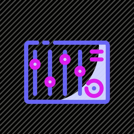Dj, dj music, entertaiment, equalizer, sound, sound mixer icon - Download on Iconfinder
