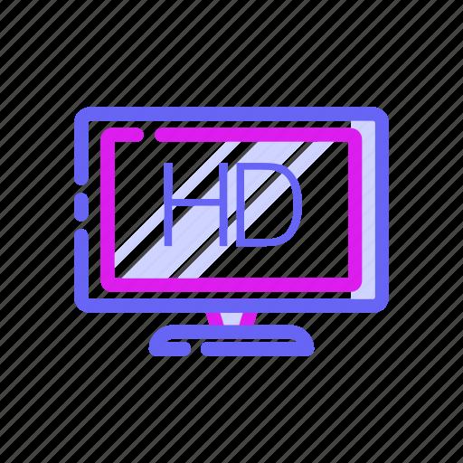 cinema, electronic, entertaiment, hd, movie, television, tv hd icon