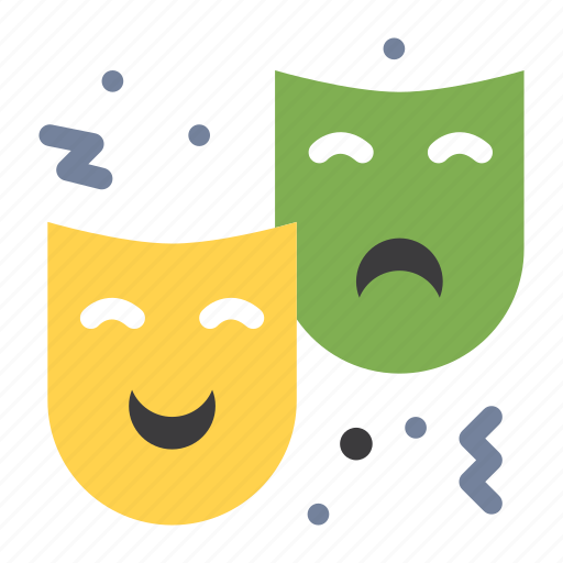 Circus, drama, expression, face, mask icon - Download on Iconfinder