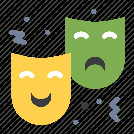 circus, drama, expression, face, mask icon