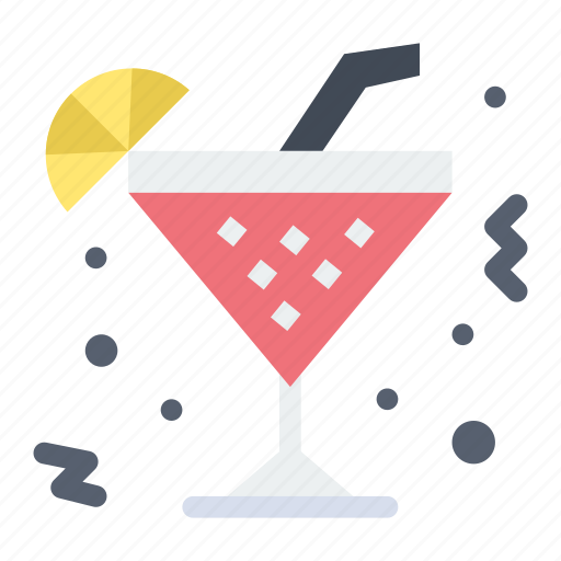 beverage, drink, glass, lemon icon