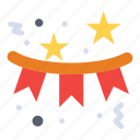 celebration, confetti, flag, holiday, star icon