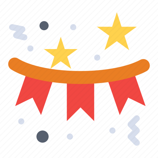 celebration, confetti, flag, holiday, star icon