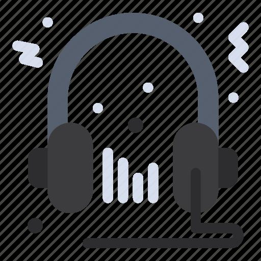 audio, headphone, microphone, multimedia, speaker icon