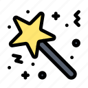 award, magic, star, stick, surprise icon