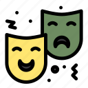 circus, drama, expression, face, mask icon