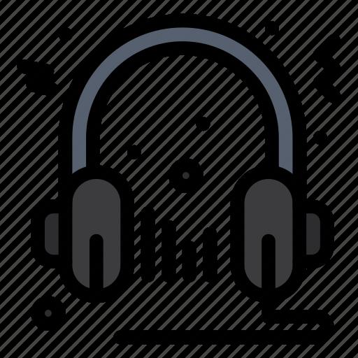Audio, headphone, microphone, multimedia, speaker icon - Download on Iconfinder