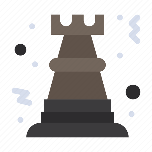 chess, game, pawn, rock, strategy icon