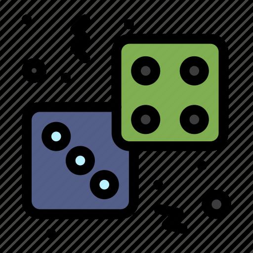 casino, dice, gambling, game, play icon