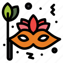 brazil, carnival, circus, face, mask icon