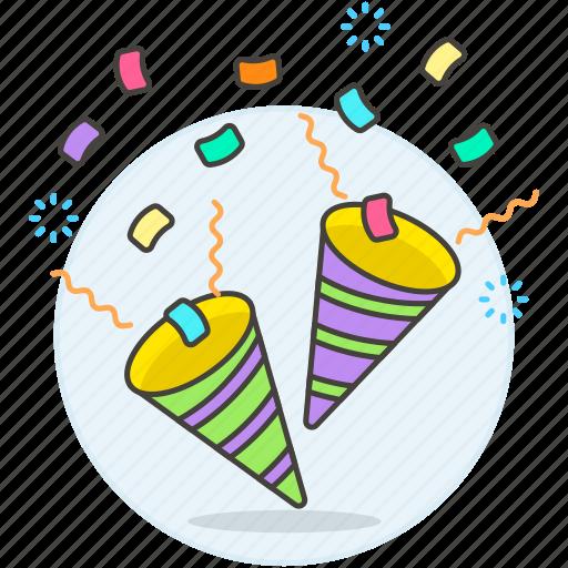 Brithday, celebration, cone, confentti, confetti, congratulation, ertainment icon - Download on Iconfinder