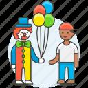 balloon, carnival, circus, clown, entertainment, event, fair icon