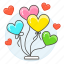 gift, celebration, party, balloon, entertainment, box, s, 2, balloons, heart, decoration, day, valentine
