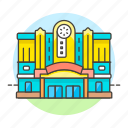 1, cinema, entertainment, film, hall, house, movie, shows, theater icon