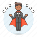 3, entertainment, floating, levitating, magic, magician, male, show, trick icon