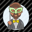 masque, entertainment, masquerade, carnival, bal, ball, male, party, halloween, mask