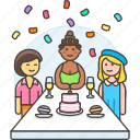 celebration, confetti, entertainment, food, friends, holiday, party, thanksgiving icon