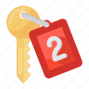 access key, car key, door, door key, key, lock key, passkey icon