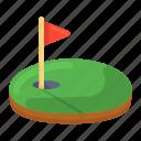 golf, golf field, golf arena, golf ground, golf flag, ground icon