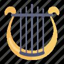 greek instrument, harp, heather harp, lyre, musical instrument