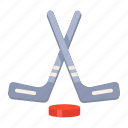 hockey, hockey accessories, hockey stick, ice, ice hockey, olympic game, outdoor game icon