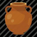 masonry art, pot, urn, vase, vassel icon