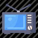 broadcast, retro screen, retro tv, tv, vintage tv, television icon
